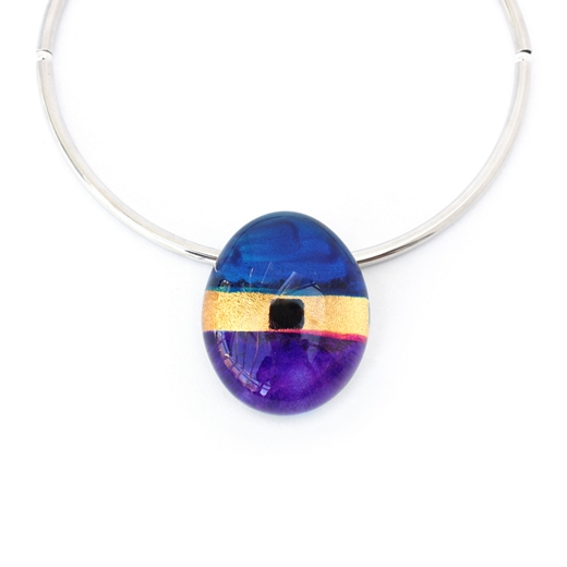 Purple pebble choker 3