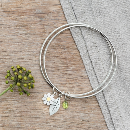 Daisy and Leaf double bangle 2