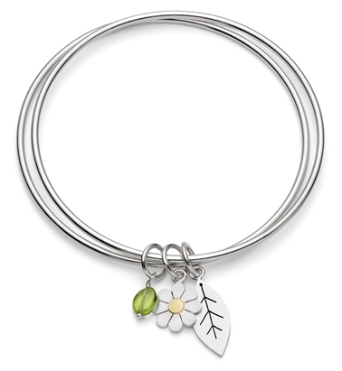 Daisy and Leaf double bangle