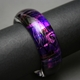 Large Rounded Bangle in Purple