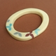 cream oval bangle