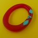 red and turquoise oval bangle