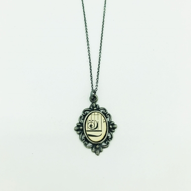 Bass Clef Framed Pendant Front