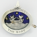 Rocking the boat, brooch