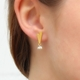 Beaded Lacewing Studs. Gold Vermeil