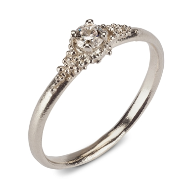 Cluster Diamond Ring - white gold