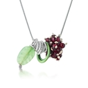 Berries Pendant with Aventurine and Garnets