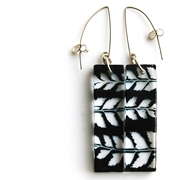 black herring bone earrings