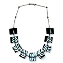 Black fern Square necklace