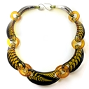 black and Gold fern Chain Sue Gregor