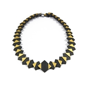 Black & Gold Geometric Necklace