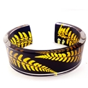 gold and black fern cuff Sue Gregor