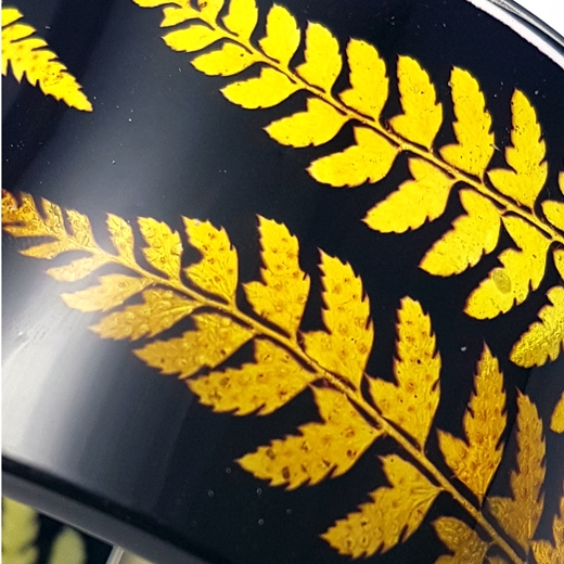 Gold and black fern Sue grego
