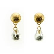 Small Bubble Earrings Black and Gold