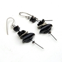 Black medium earrings