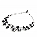 Black double strand necklace