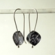 black petal earrings