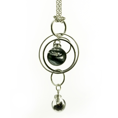 Black Double Bubble Pendant