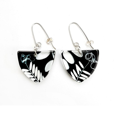 Black Vetch | Triangle Earrings | Recycled Perspex