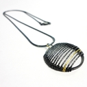 Black & Gold Stripe Necklace