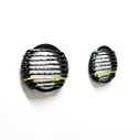Black & Gold Stripe Studs (side view)
