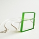 bright green block necklace
