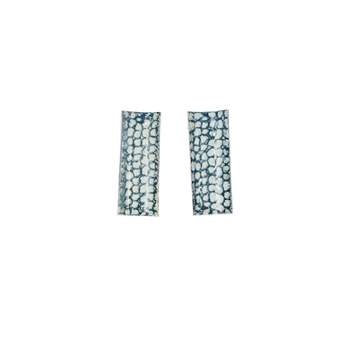 Blue rectangle curved studs