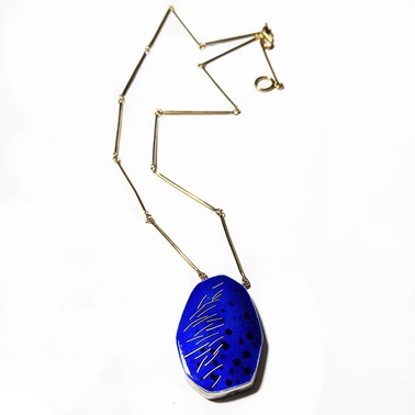 Blue & gold pendant