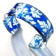 blue baroque 25mm cuff