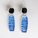 blue clip wired earrings