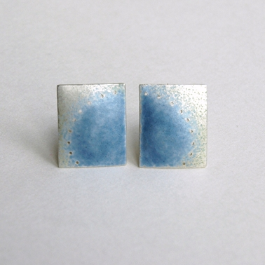 Blue grey cufflinks