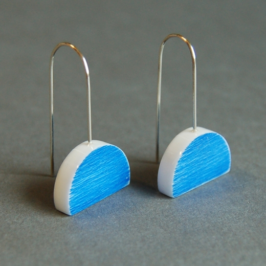 blue eclipse earrings