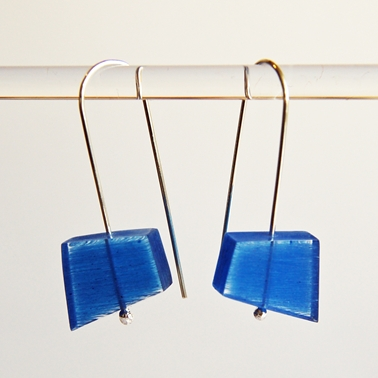 blue fragments earrings