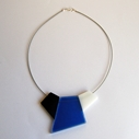 blue fragments necklace
