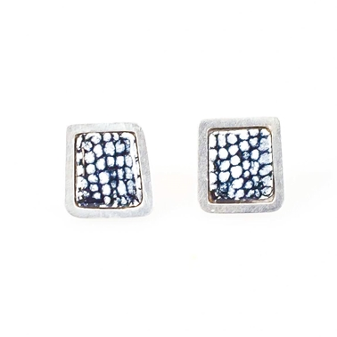 Blue Square Framed Studs