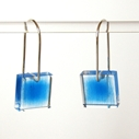 blue frayed earrings 2
