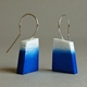 blue graffiti earrings