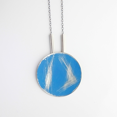 Long buoy necklace blue 1