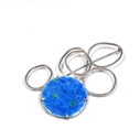 Blue loops brooch