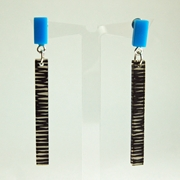 blue metro earrings