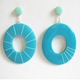 oval mis-match earrings