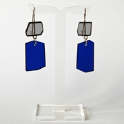 blue shard earrings A0012