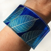 Blue Skeleton leaf cuff