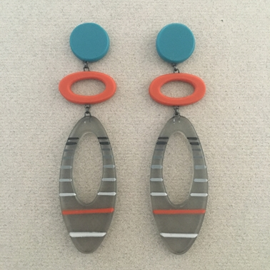 Long ellipse earrings