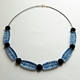 blue wired necklace
