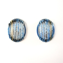 Blue & Gold Stripe Studs