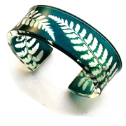Green fern narrow cuff