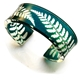 Forest Green Fern narrow cuff
