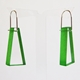 bright green block earrings