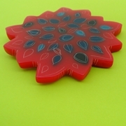 bloomin' red brooch